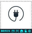Plug icon flat vector image vector image