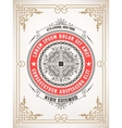 Premium Quality card Baroque ornaments and floral vector image vector image
