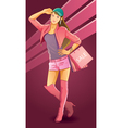 pretty girl love shopping vector image vector image