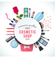 Professional quality cosmetics shop stylish vector image
