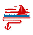 sailboat isolated marine icon ship in sea vector image vector image