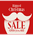 santa claus figure for christmas sale background vector image