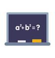 school blackboard educational and back to school vector image
