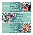 set horizontal banners about ice-cream vector image vector image