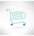 Simple shopping cart in modern flat design Trolley vector image vector image