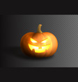 smiling spooky pumpkin template vector image