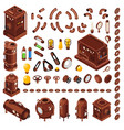 steampunk isometric constructor vector image vector image