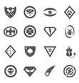 Superhero badges emblems logos icons set vector image vector image
