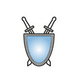sword with shield icon vector image