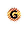 technology letter g vector image vector image