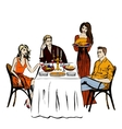 Thanksgiving or Christmas dinner vector image vector image