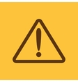 The attention icon Danger symbol Flat vector image vector image