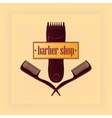 Vintage Barber Shop Label vector image vector image