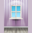 window on the wall vector image vector image
