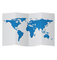 world map globe on folder paper eps vector image vector image