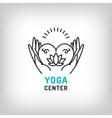 yoga logo meditation icon lotus flower vector image