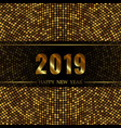 2019 new year black background vector image vector image