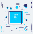 abstract blue geometric shape composition with vector image vector image