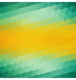 Abstract Green Yellow Triangle Background vector image vector image