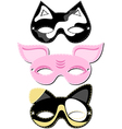 Animal mask design vector image