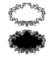 baroque floral frame in two different styles vector image vector image