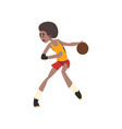 basketball player african american athlete in vector image vector image
