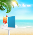 Beach with palm cocktail menu and clouds Summer vector image vector image
