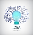 brainstorm idea business vector image vector image