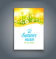 bright summer blank vector image vector image