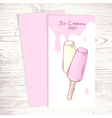 Cafe menu template with hand drawn fruity ice vector image