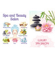 cartoon spa salon colorful concept vector image vector image