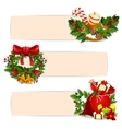 Christmas holiday banner set for festive design vector image vector image