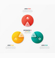 circle chart template with 3 options vector image vector image