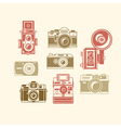 Classic photo camera icons vector image