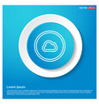 cloud icon abstract blue web sticker button vector image
