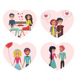 couples in love images set vector image vector image