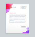 creative ink business letterhead vector image vector image