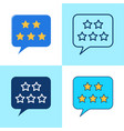 customer review icon set in flat and line style vector image