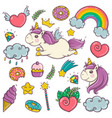 cute set of wonderful magical elements with vector image vector image