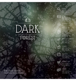 Dark forest background business icons vector image