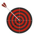 dart icon flat style vector image