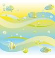 dreamy sea background vector image