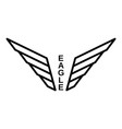 eagle logo outline style vector image vector image