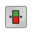 energy switch and push buttons vector image