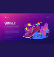 extreme camp concept landing page vector image vector image