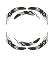 feathers wreath isolated icon design vector image