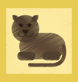 flat shading style icon cartoon panther vector image vector image