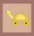 flat shading style icon kids turtle vector image vector image
