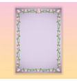 floral borders page template for web and print vector image vector image