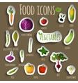 Food vegetables set vector image vector image